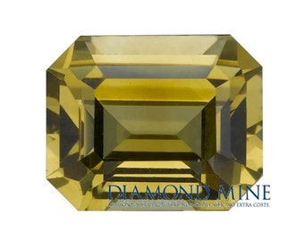 A Beautiful NaturalSapphire 0.88 Yellow Emerald Cut Extra