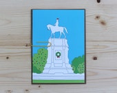 Christmas Card - Coloring - 5x7 - Lee Monument - Richmond, VA