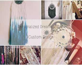 Custom Dreamcatcher -  Bohemian Home Decor - Personalized Dream Catcher - Gypsy Boho Bedroom Decor - Baby Shower Decor - Boho Wedding Decor