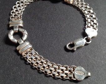 Vintage Sophisticated Italian Sterling Bracelet