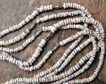"Tiger Puka Shell Necklace (20"" x 4-5mm)"