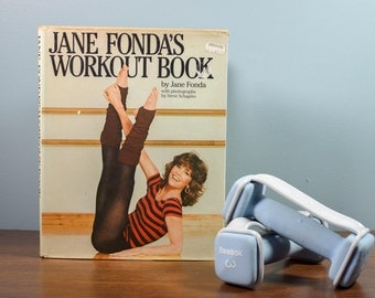 Vintage Jane Fonda's Workout Book 1981 Hard Cover, Resource Book, Instruction Manual, Workout Book, Health and Fitness Book