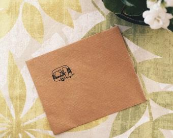 kraft recycled paper envelope.
