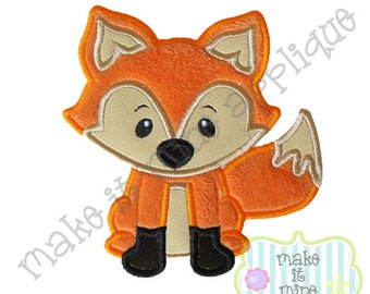 Applique Woodland Animal Fox Machine Applique Design