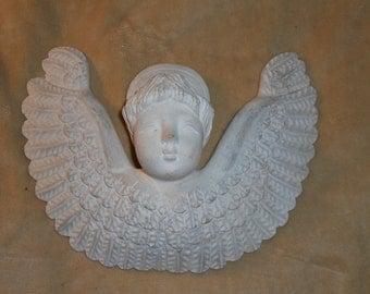 Vtg Shabby Wall Angel Three Dimensional 13 x 11