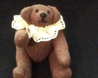 Vintage Miniature Articulated Bear