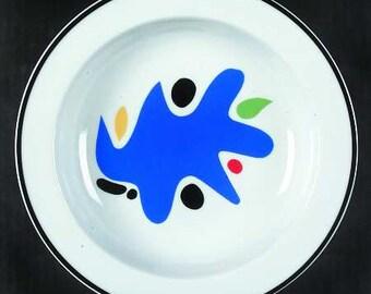 "New Block Spal Coupe Rim Soup Bowl ""SPLASH'' Pattern Antonio Mira, Portugal 8 3/4"""