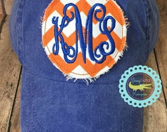 Monogrammed Baseball Hat-Ladies Hat-Monogrammed Hat-Monogrammed Patch Cap-Ball Cap-Baseball Monogram Cap-Ladies Cap-Embroidered Baseball Cap