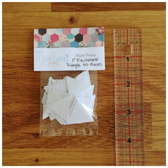 "50 One Inch (1"") Equilateral Triangle Paper Pieces - English Paper Piecing - Patchwork Quilting"