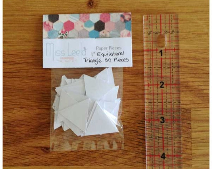 """50 One Inch (1"""") Equilateral Triangle Paper Pieces - English Paper Piecing - Patchwork Quilting"""
