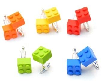 Lego® Brick Cufflinks - Mens Cufflinks - ~ Choose your color~  Groom Cufflinks - Groomsmen Gift ~ Lego Cufflinks with box