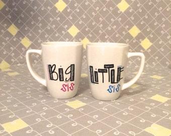 Sorority. Big Little Mug Set.