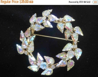 20% OFF JAY FLEX Sterling Crystal Aurora Borealis Brooch