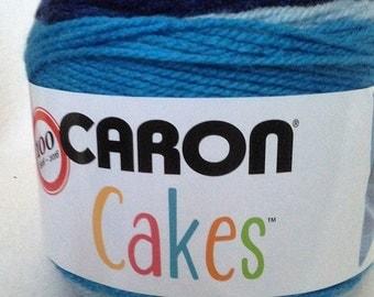 Caron Cakes Blueberry Cheesecake, Caron yarn, wool yarn, acrylic yarn, acrylic wool mix, variegated yarn