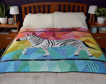 Running Zebra- A Foundation Paper Pieced Quilt Pattern