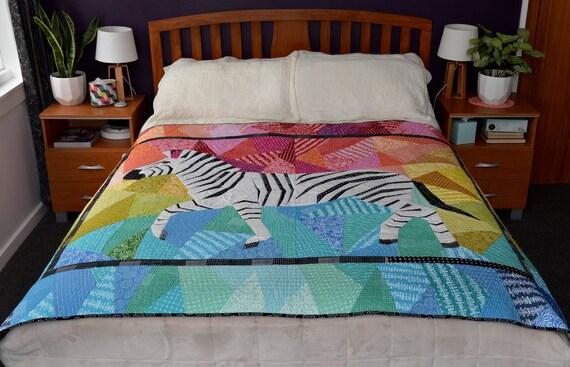 Running Zebra- A Foundation Paper Pieced Quilt Pattern