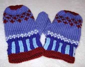 Child Hand-knit Mittens