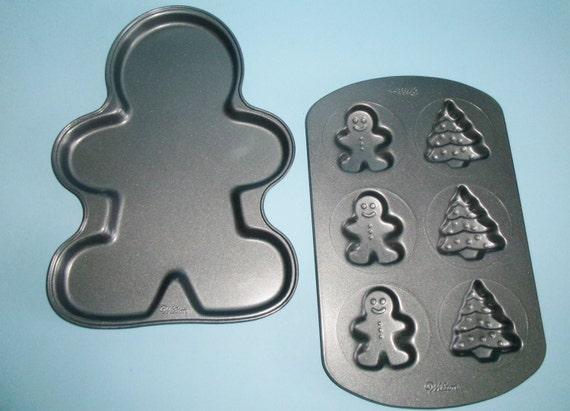 Items Similar To Wilton Nonstick Gingerbread Man 12 Inch
