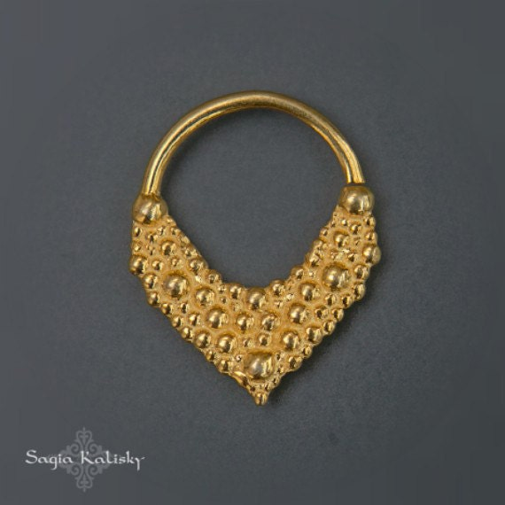 septum jewelry septum ring 16g gold septum ring tribal