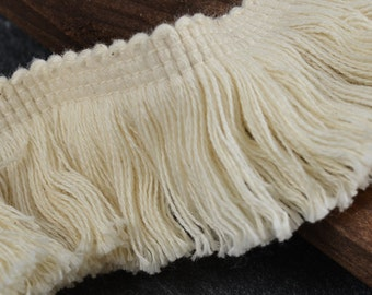 "1-5/8"" Vintage Cotton Fringe Trim by 2-yard, TR-11138"