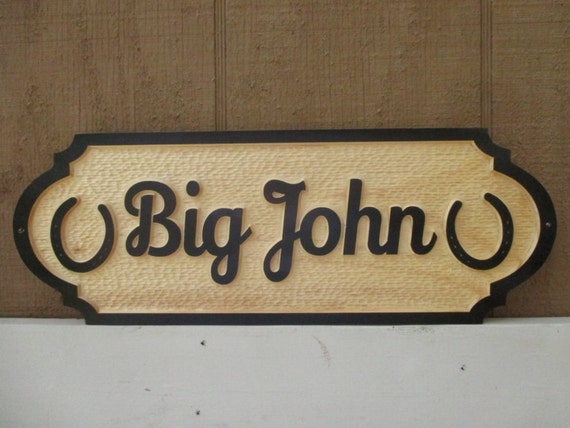 Horse Name Plate Personalized Horse Stall Sign Lucky