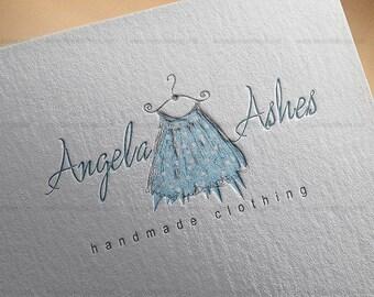 Custom Premade Logo Design Package for Fashion Boutique - Boho Handmade Clothing Logo Design, watercolor logo, boutique logo, business logo