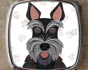 Scottie dog compact mirror