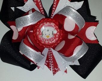 Christmas penguin bow