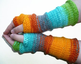 Knit Fingerless gloves | Arm warmers | Womens Fingerless | Long Fingerless Mittens | Wrist warmers Hand warmers Vegan Glove
