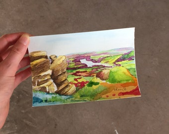 Hand-Painted Postcard, The Roaches