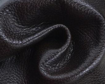"Marbled Dark Brown Leather Cow Hide 8"" x 10"" Pre-cut 4 ounces TA-35260 (Sec. 4,Shelf 7,A)"