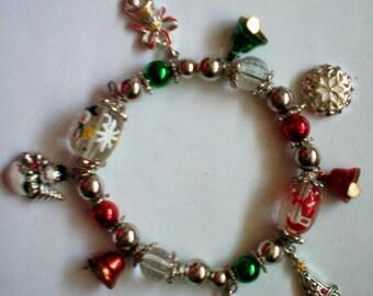 Holiday Christmas Stretch Charm Bracelet - 4242