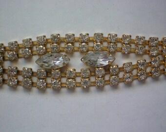 Glitzy Rhinestone Party Bracelet - 4406