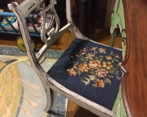 Vintage 1900's DUNCAN PHYFE style CHAIR - Beautifully Painted, Music Theme