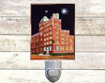 "Night Light, ""Dixie Brewery"", New Orleans Brewery,  Handmade, Copper Foiled"