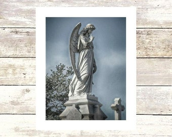 New Orleans Art SPEAK NO EVIL  Angels  Metairie Cemetery   Fine Art Cemetery Photography  Cherubs  Statue Louisiana Art