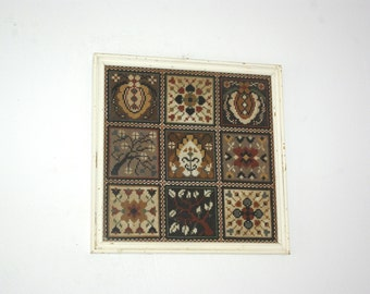 Greek Embroidery Canvas, Embroidered Wall Tapestry, Greek Folk Art, Cross stitch Wall Decor, Needlepoint Canvas Wall Hanging, Embroidery Art