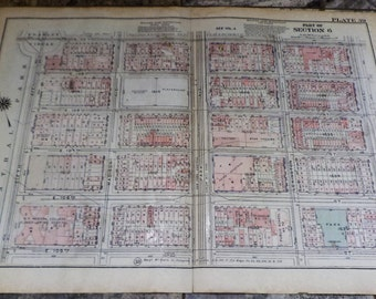 Vintage Map, New York, Urban Planning, Upper East Side, Historic City Planning, Antique Maps