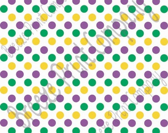 Purple, green and yellow dot pattern craft  vinyl sheet - HTV or Adhesive Vinyl -  medium polka dots Mardi Gras colors HTV1630