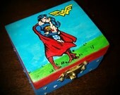 Wonder Woman Superman inspired ring box