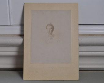 Cabinet Card Photo  Beautiful Ghostly Woman Overexposed