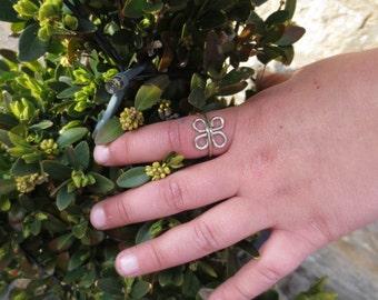 alpaca silver tribal ring