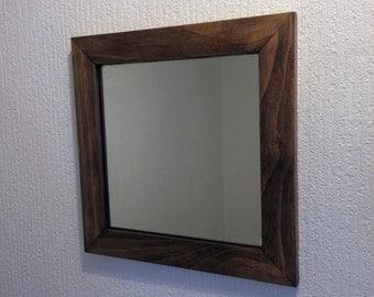 Handmade Wood Framed Mirror, Mitred Framed Mirror, Small Wall Mirror
