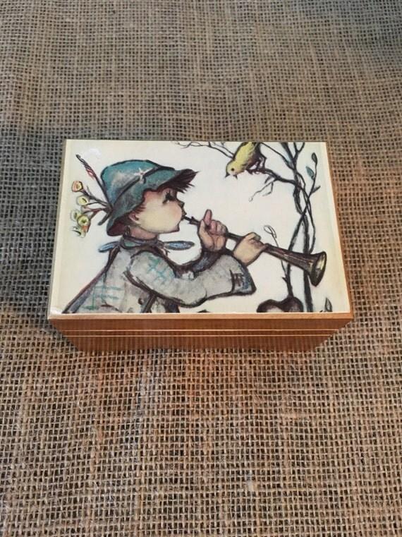 Vintage Thorens Wood Music Box Hummel Box Made In