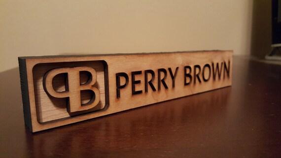 Desk Name Plate Home Work Decor Personalized Unique