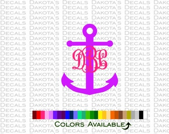 "Anchor and Initials 6"" Decal"