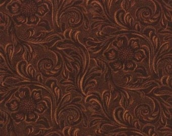 Tooled Leather Brown by Moda Fabrics - 1 yard