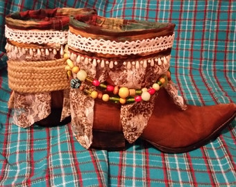 Upcycled Cowboy boots, Western Boots
