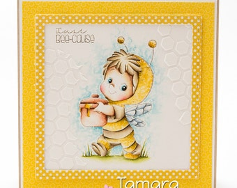 OOAK CC Designs Bee Henry Birthday card