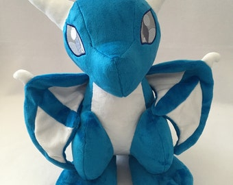 "Blue & White ""Summer Sky"" Wyvern Plush - 15"" Tall"